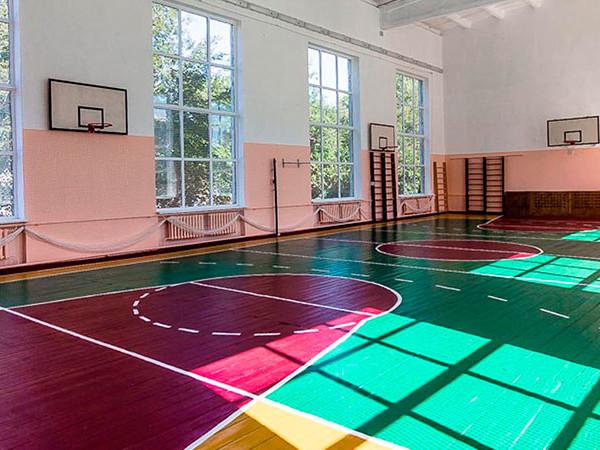 Ремонт спортивного зала школы
